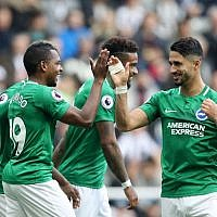Beram Kayal (right) celebrates scoring the winning goal against Newcastle