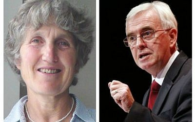 Jenny Manson and Shadow Chancellor John McDonnell