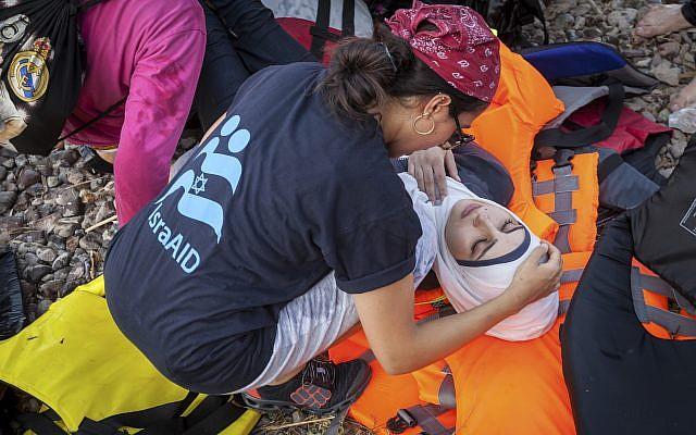 Providing lifesaving care on the shores of Lesbos. Photo - Boaz Arad