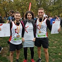 Daniel Bratt and Benjamin Radstone, pictured either side of WJR's new Community Engagement Officer Zara Kletz, ran for the charity