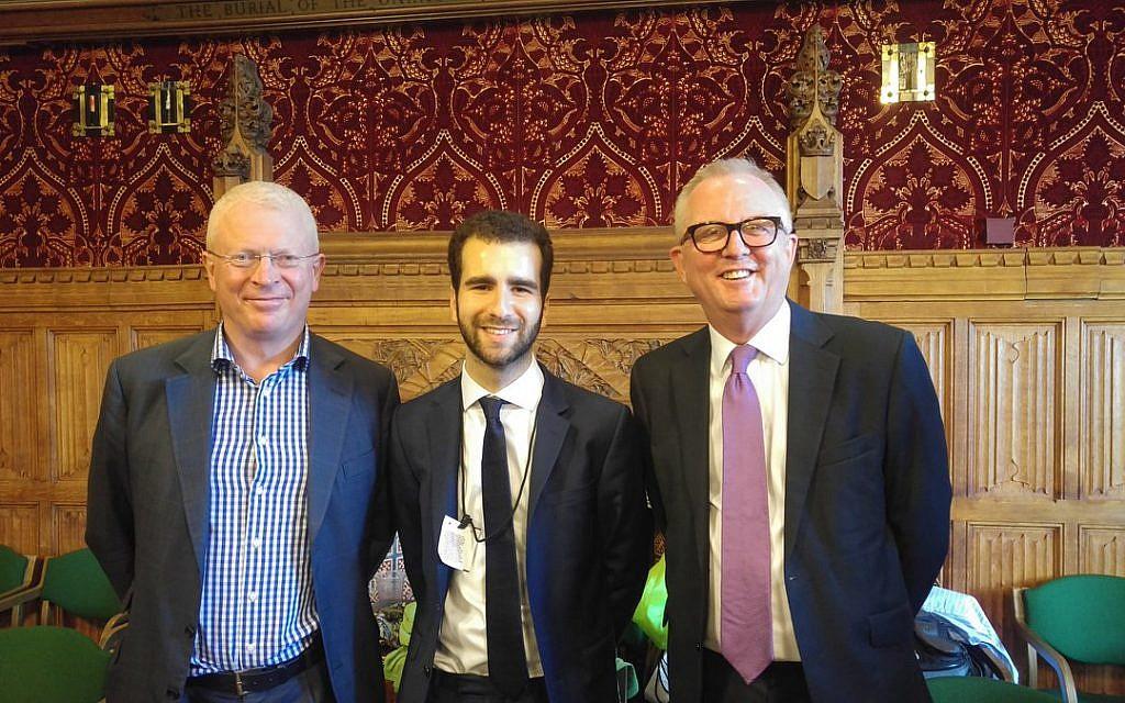 L-R: John Cryer MP, Joel Salmon and Ian Austin MP