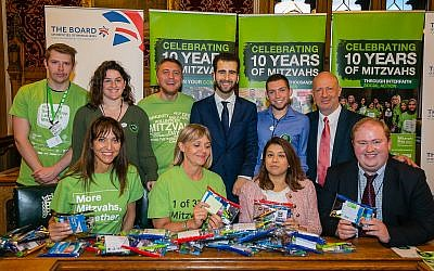Mitzvah Day volunteers are joined by MPs, the Board and APPG on British Jews in parliament. Photo credit: Yakir Zur