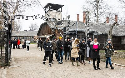 Students on the Holocaust Educational Trust (HET)/UJS Lessons from Auschwitz Universities Project, visiting Auschwitz. Photo credit: Yakir Zur