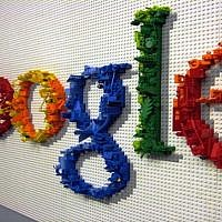 The Google Logo in art form. Source: Wikimedia Commons. Credit: Nyshita talluri