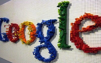 The Google Logo in art form. Source: Wikimedia Commons. Credit: Nyshita talluri