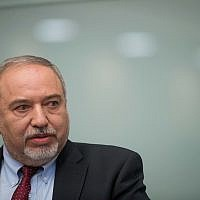Israeli minister of Defense Avigdor Liberman announces his resignation from the Defense Minister position in the government following the ceasefire with Hamas in the Gaza Strip, during a press conference in the Israeli parliamen. photo by: JINIPIX