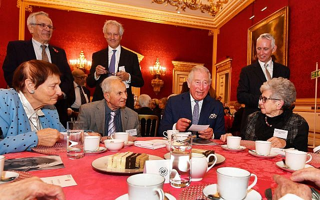 The Prince of Wales meets with members of the Association of Jewish Refugees during a reception in London, which marks the 80th anniversary of the Kindertransport. Photo credit: John Stillwell/PA Wire