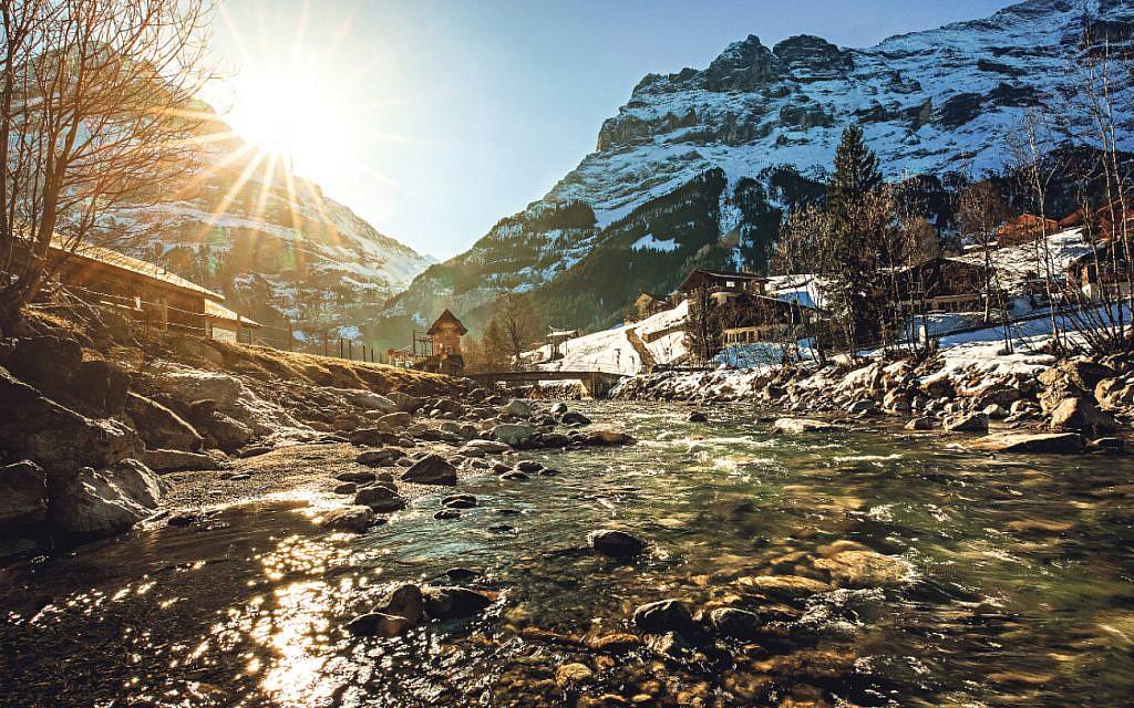 A scenic landscape of Interlaken