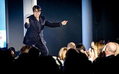Michael McIntyre in full flow on stage! Photo credit Justin Grainge