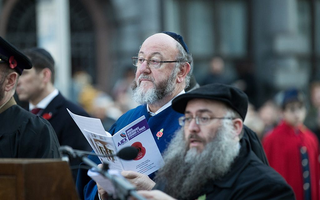 Chief Rabbi Mirvis at the AJEX parade 2018. Credit: Marc Morris Photography
