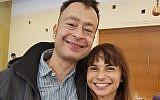 Retired north London lawyer Adam Blain with his wife Lu