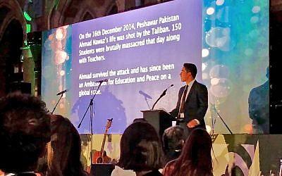 Ahmad Nawaz speaking at Quilliam's event