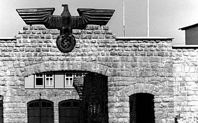 Gate to the garage yard in the Mauthausen concentration camp. Source: Wikimedia Commons. Credit: Bundesarchiv, Bild 192-334 / CC-BY-SA 3.0