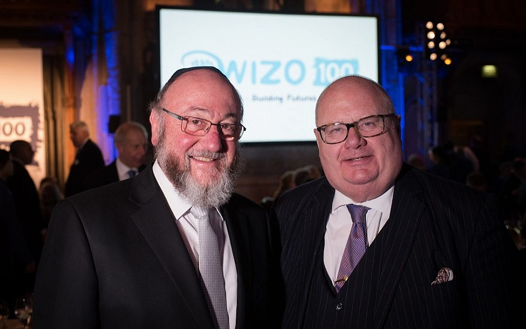 Chief Rabbi Mirvis and Lord Pickles. WIZO UK centenary dinner. Credit: Blake Ezra