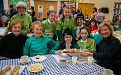 Clore Tikva Primary School attended a tea and dance at Redbridge Jewish Community Centre. Picture: Yakir Zur