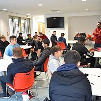 Young people of different faiths at Arsenal