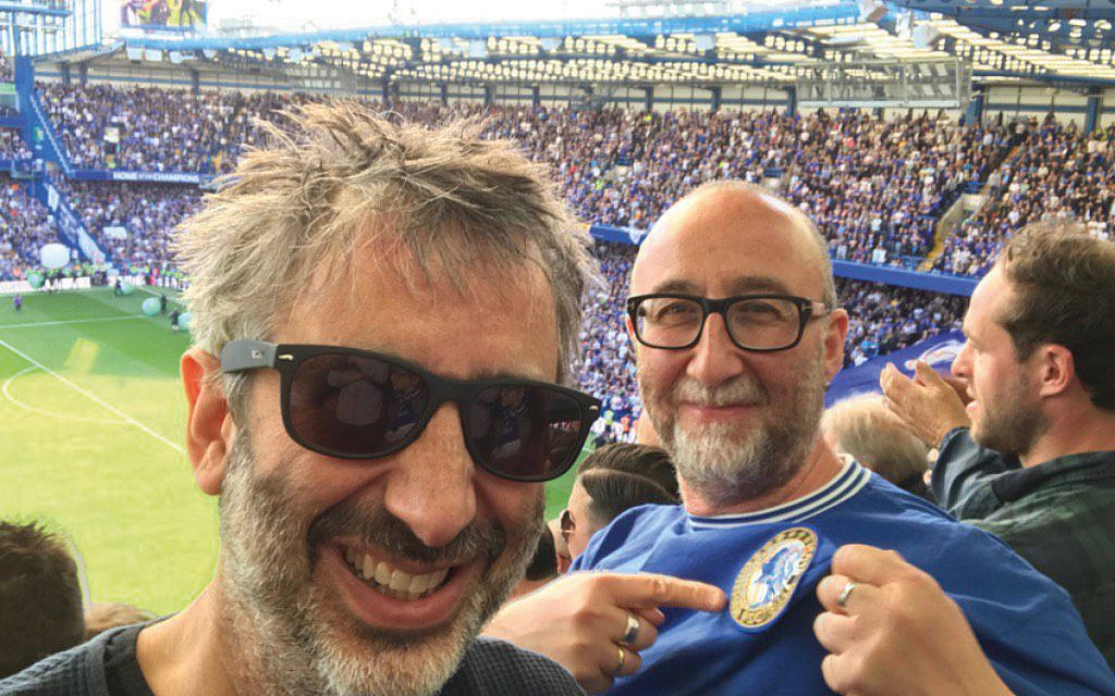 David and Ivor Baddiel at Chelsea together