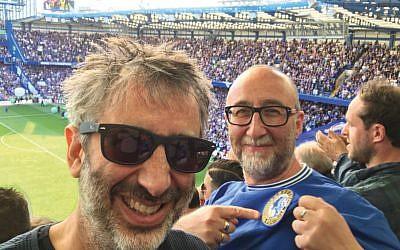 David and Ivor Baddiel at Chelsea together