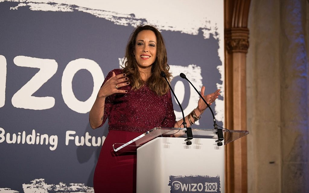 Host Eden Harel. WIZO UK centenary dinner. Credit: Blake Ezra