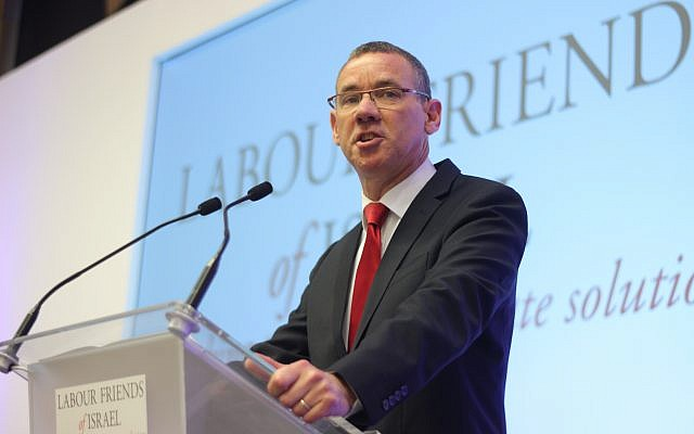 Mark Regev speaking during the LFI lunch