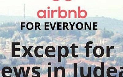 Example of a flier handed out by activists protesting against Airbnb