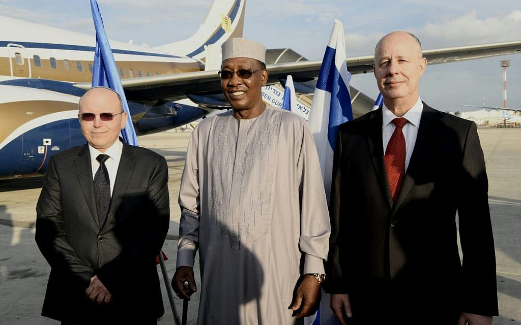Chad President Idriss Deby arrives in Israel