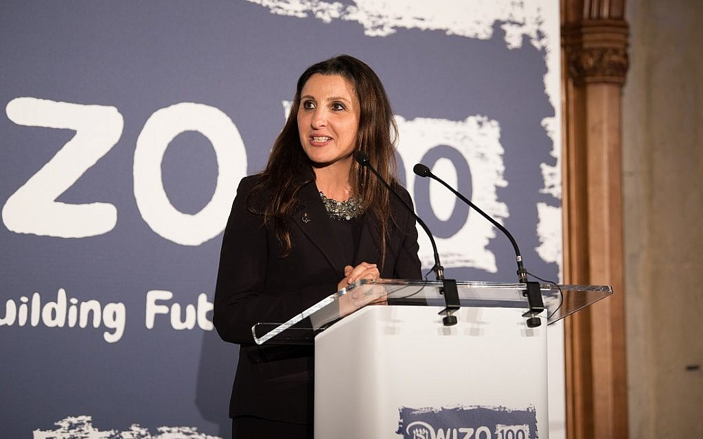Fleur Hassan-Nahoum at the WIZO UK centenary dinner. Credit: Blake Ezra