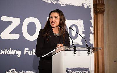 Fleur Hassan-Nahoum at the WIZO UK centenary dinner. Credit: Blake Ezra