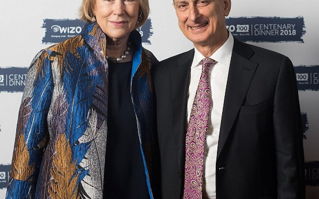 Judy and David Dangoor. WIZO UK centenary dinner. Credit: Blake Ezra