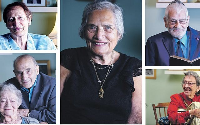 The six kinder featuring in the exhibition, clockwise from top left: Ruth Barnett; Elsa Shamash; Bernd Koschland; Bea Green; and Ann and Bob Kirk