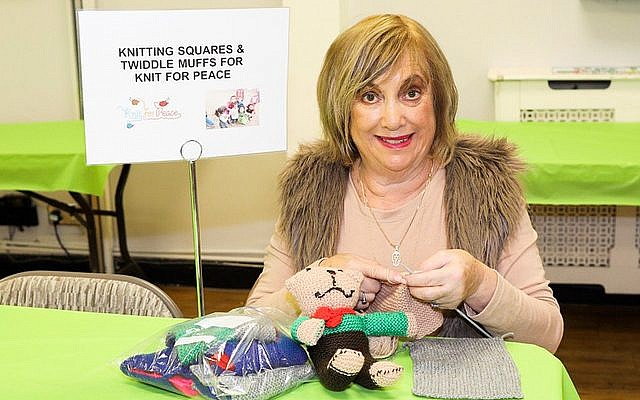 Knitting Blankets for Knit for Peace at Bushey Synagogue