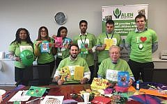 Staff at OGR-Stock-Denton-Solicitors created Chanukah cards, which will be sent to disabled children at ALEH's Centre in Jerusalem