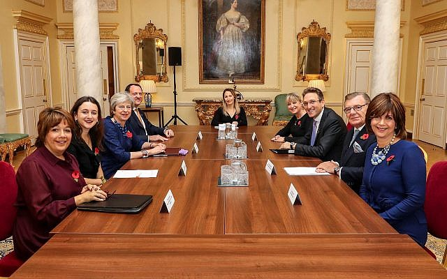 JLC led delegation with Prime Minister Theresa May