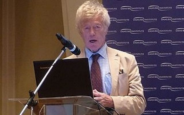 Professor Sir Roger Scruton speaking in Budapest in 2016