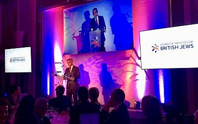 Sadiq Khan speaks at the Board of Deputies dinner