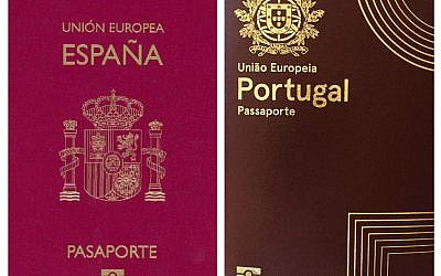 Spanish and Portugese passports