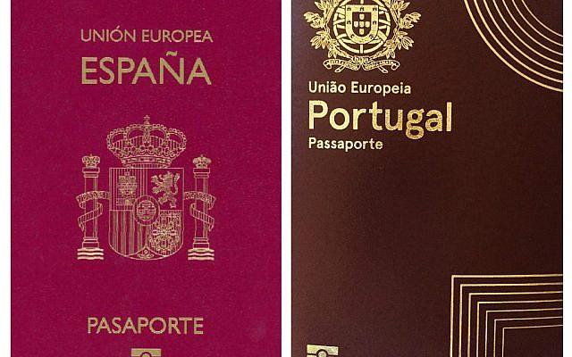 Spanish and Portugese passports