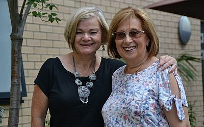 Jewish Care's Susan Dawson with volunteer Sue Soloway, who was recently diagnosed with dementia