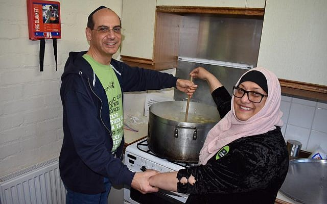 The Waltham Forest Faith Communities Forum - including Rabbi Richard Jacobi and volunteers from East London & Essex Liberal Synagogue - made and took chicken soup to the homeless and elderly