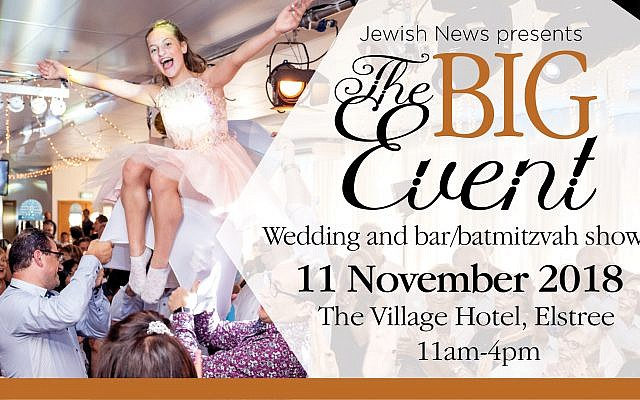 Jewish News presents The Big Event takes place at the Village Hotel in Elstree on Sunday 11 November!