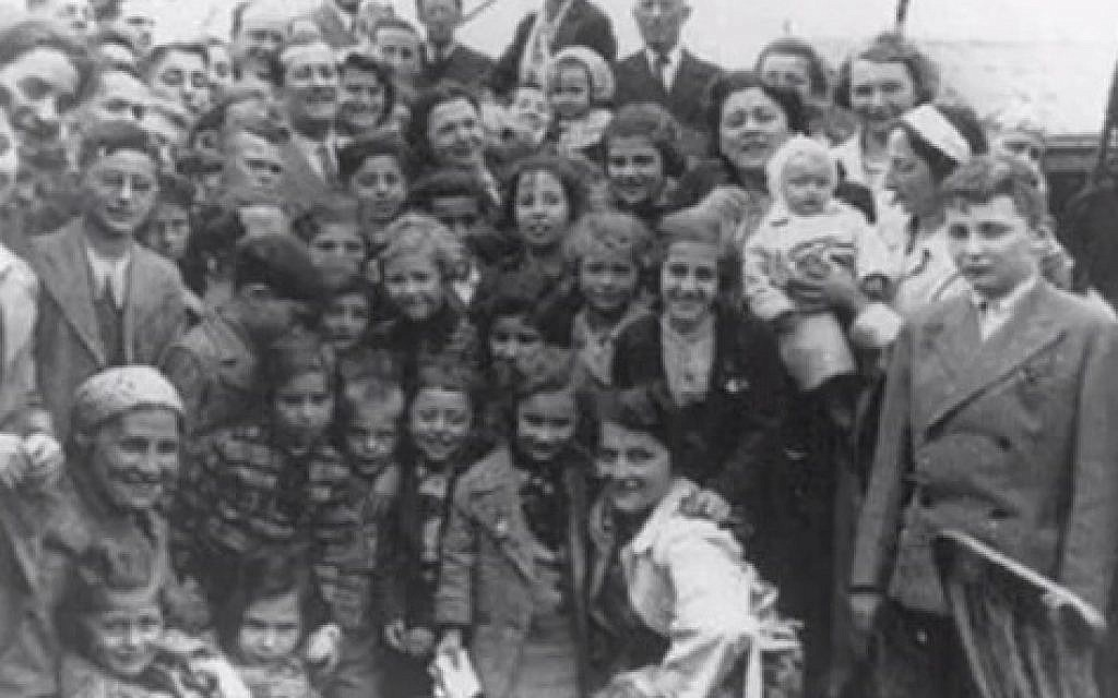Zilla as a baby, pictured with passengers on board the SS St Louis
