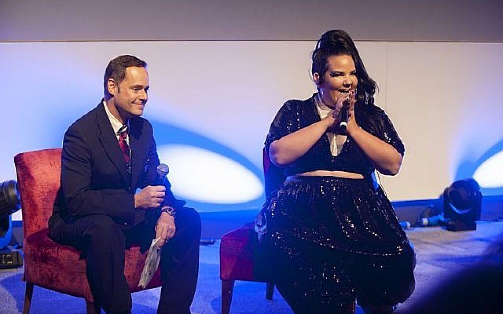 Netta speaking during the event for British Airways!