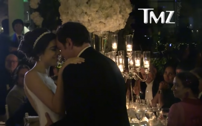 Screenshot from video by TMZ, showing the reception where the couple celebrated their marriage