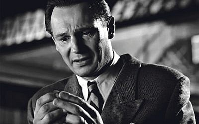 Oskar Schindler as depicted in Schindler's list by Liam Neeson.