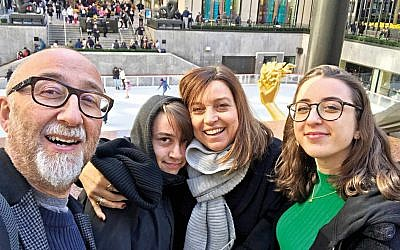 Ivor Baddiel and family have fun in New York