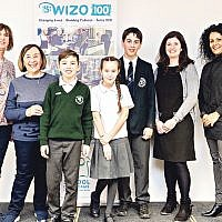 Winners and judges: Loraine Warren,Wizo UK honorary president, Michele Pollock, WIzo UK president, Dylan Milich, Abi Zinkin, Joshua Cohen, Francine Wolfisz, Jewish News features  editor, and Wizo UK chair Ronit Ribak Madari