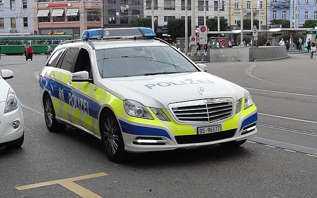Basel police car. Source: Wikimedia Commons. Credit: Mattes