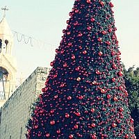 Bethlehem Christmas tree. Source: Wikimedia. Credit: علاء (Alaa)