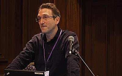 Jonathan Goldstein addressing Limmud Festival 2018