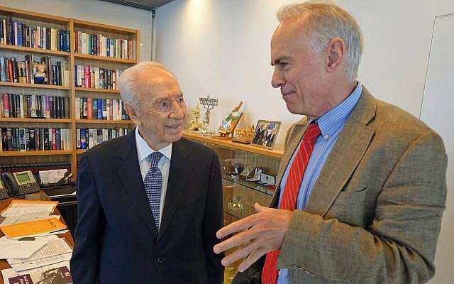 John Curtin with the late Shimon Peres